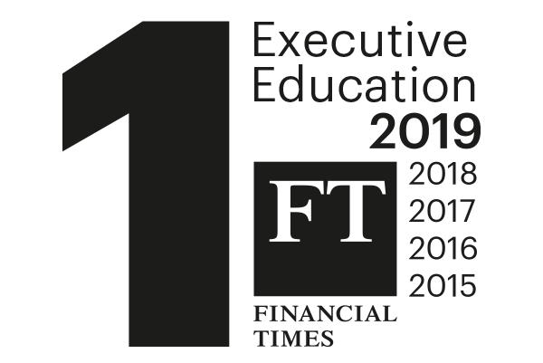 Executive Education 1st in world, FT 2015-2019